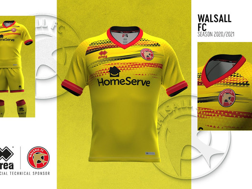 WALSALL F.C.: HERE'S THE SADDLERS' THIRD KIT FOR THE 2020–2021 SEASON