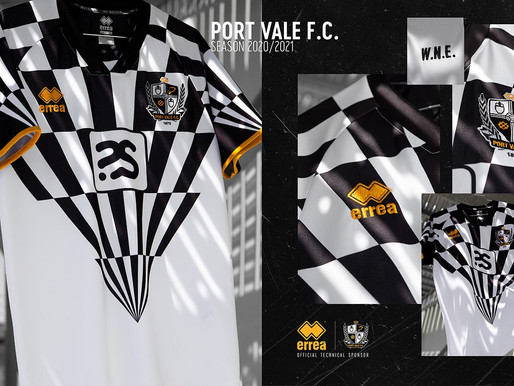 ERREÀ SPORT FOR PORT VALE F.C.: THE NEW 2020-2021 HOME SHIRT INSPIRED BY ROBBIE WILLIAMS