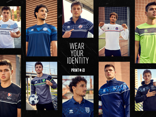 THE ULTIMATE IN UNIQUENESS AND CUSTOMISATION: ERREÀ SPORT TAKES TO THE FIELD WITH PRINT ID