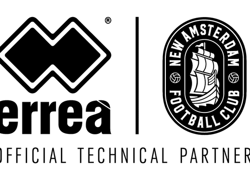 ERREÀ IS DELIGHTED TO ANNOUNCE THE MULTI-YEAR PARTNERSHIP WITH NEW AMSTERDAM FOOTBALL CLUB