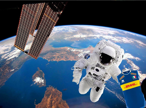 THE ITALIAN NATIONAL VOLLEYBALL TEAM SHIRT GOES INTO SPACE