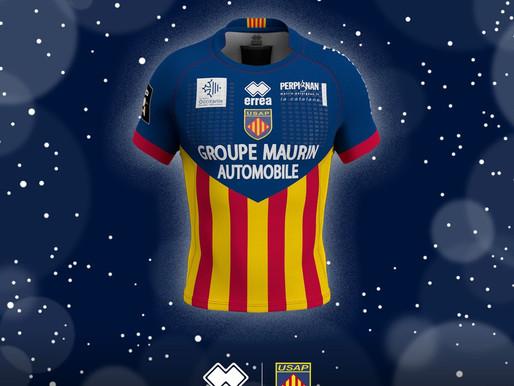 USAP Perpignan's Christmas top sporting the Erreà logo!