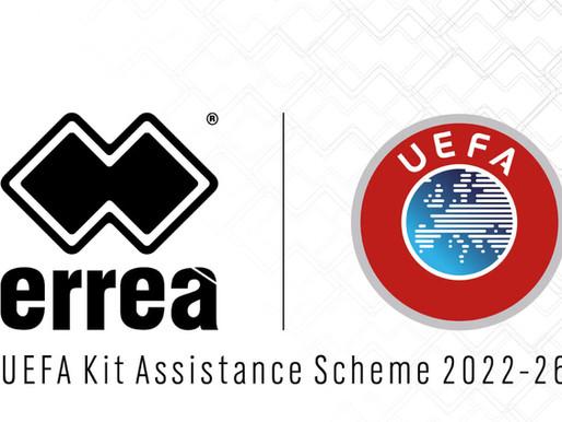ERREÀ CHOSEN AS 2022-26 UEFA KIT ASSISTANCE SCHEME SUPPLIERS