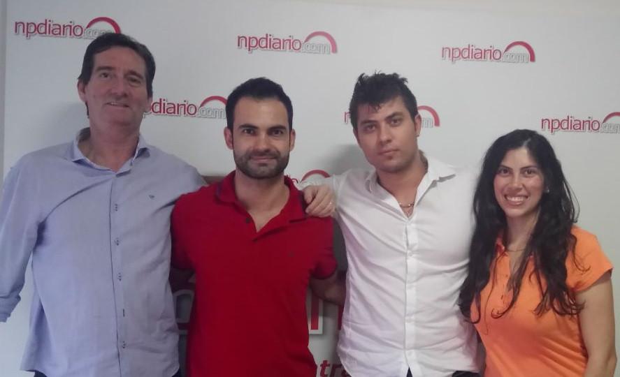 Na foto: Valcir Machado, Vitor Leite, Camilo First, e Renata Gonçalves