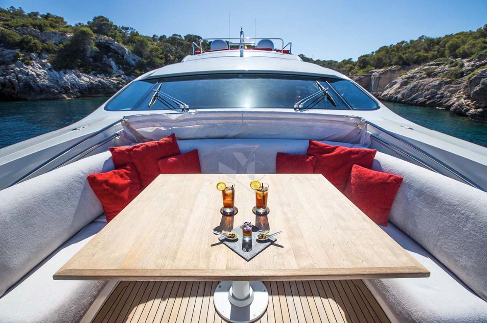 Pershing luxury yacht charter ibiza