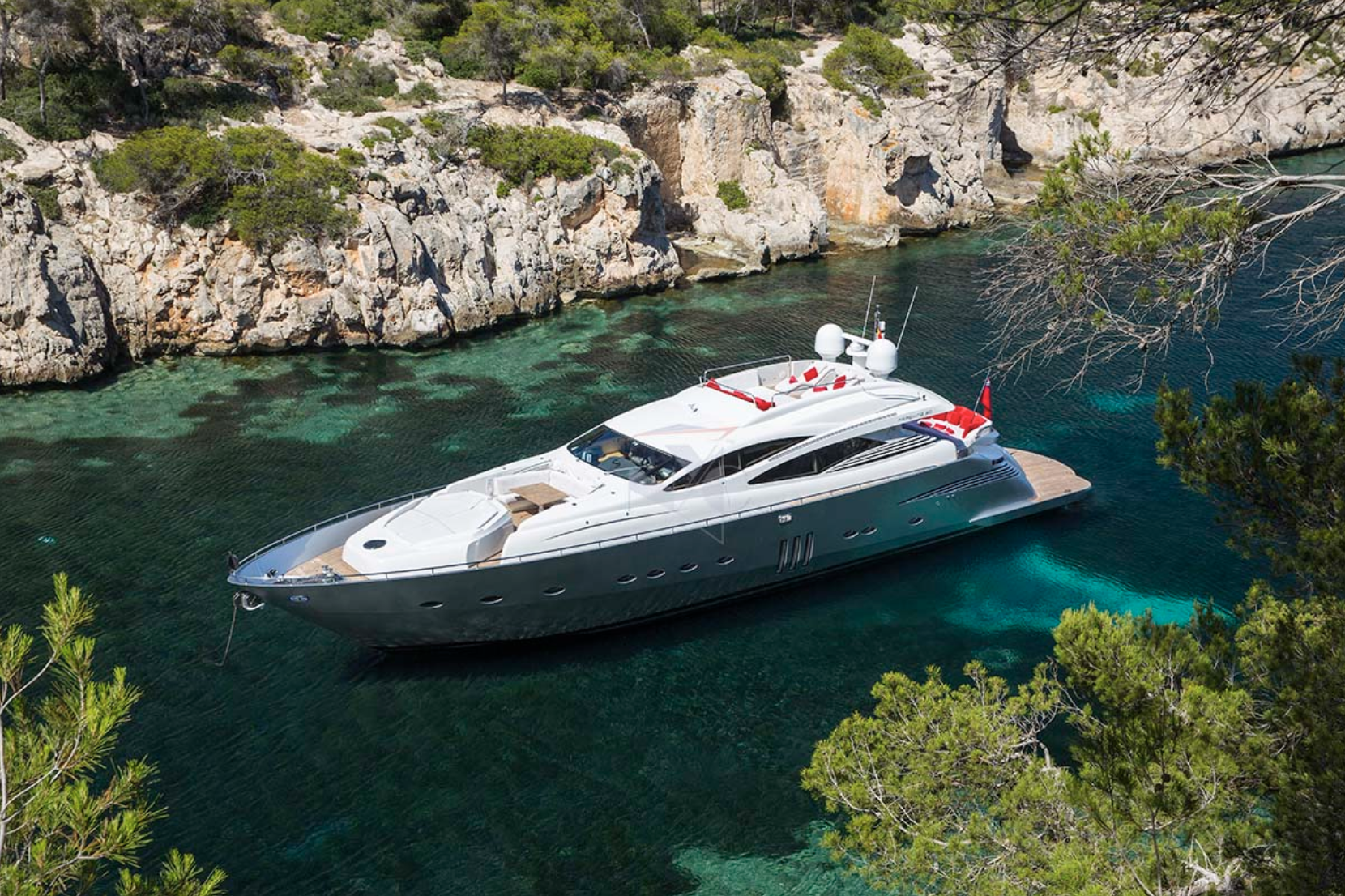 Pershing90 luxury yacht rental ibiza
