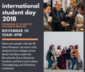 International Student Day Flyer  2018 -