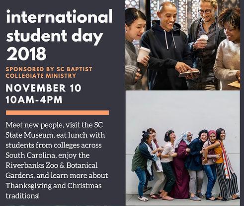 International Student Day Flyer  2018 -