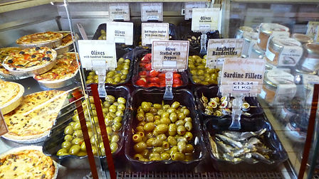 Thorncliffe Farm Shop - Deli Olives, Peppers, Anchovies, Sardines