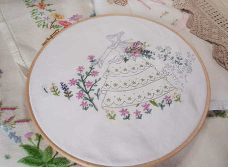 Using iron-on transfers for embroidery