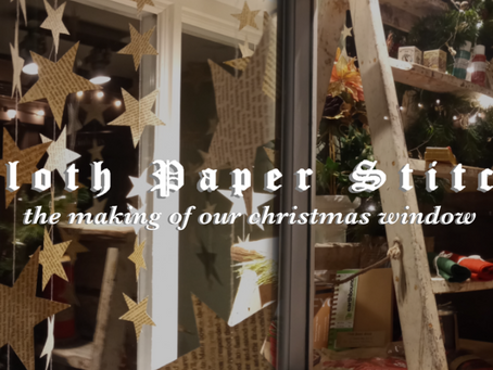 How we made our Christmas window