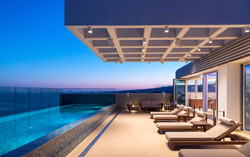 Rooftop wellness and lounge area