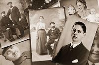 Family Bilder i svart-hvitt