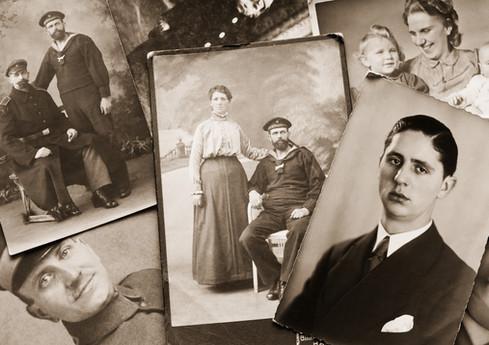 Photos de famille dans B & W