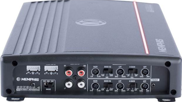 Memphis Audio SRX300.4 Street Reference 4-channel car amplifier — 50 watts RMS x