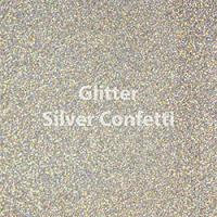 Siser EasyWeed - Glitter Silver Confetti