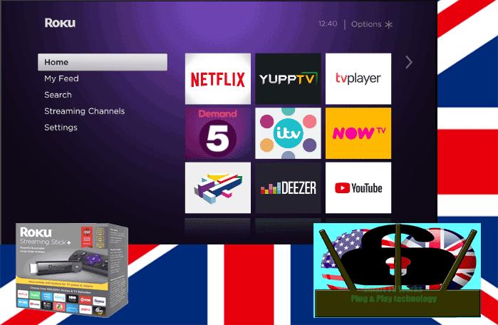 Roku UK Streaming Channels Geo Unlock Turn-key Pack