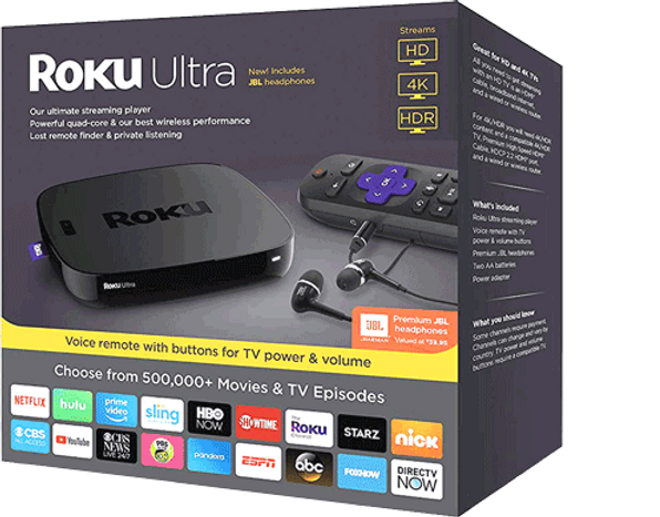 Roku Ultra (4660) HDR Streaming Media Player (Latest Release 2018) + AU  Power!