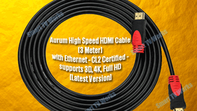 HDMI Cable High Speed for 4K, Full HD 3D and Ethernet