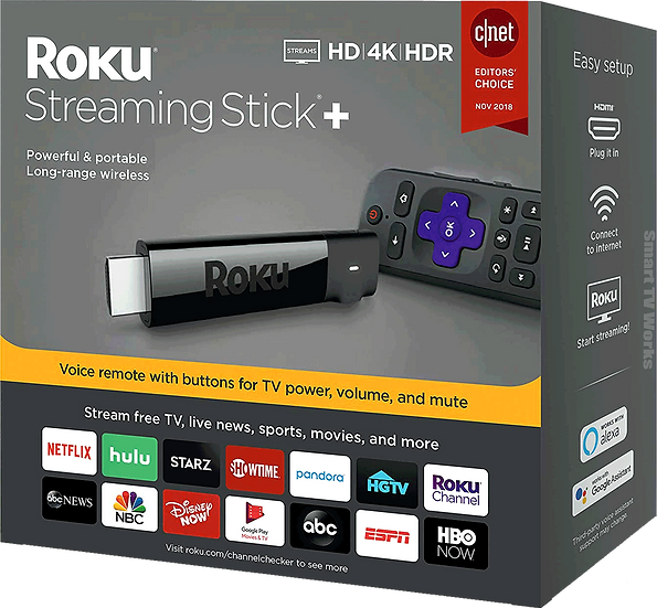 Latest Roku Streaming Stick+ Plus HD/4K/HDR Long-range WiFi and Voice Remote