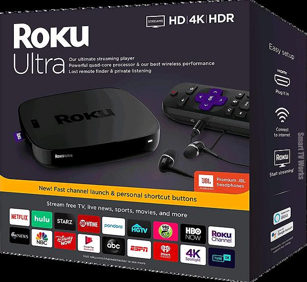 Latest Brand-New Roku Ultra (4670) 4K HDR Streamer JBL Premium + AU Power