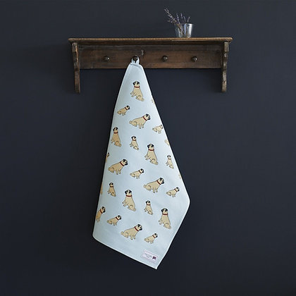 Sweet William Pug Tea Towel