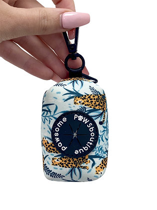 Cool Cats Leopard Poo Bag Holder design by Pawsome Paws Bout