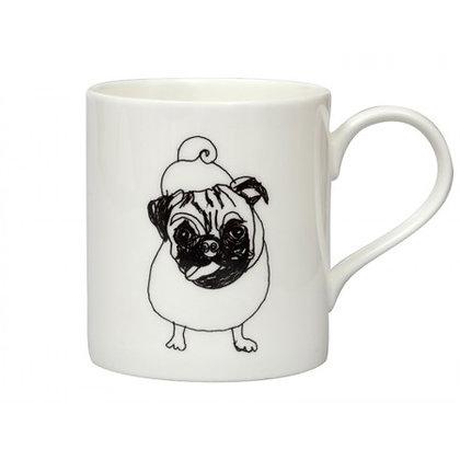 Pug Illustration Mug