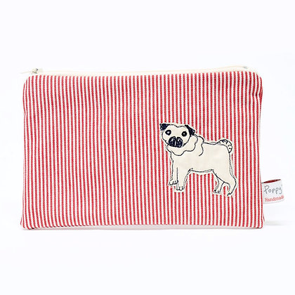 Pug Embroidered Purse
