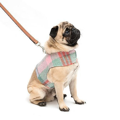 Macaroon Check Tweed Soft Dog Harness - Mutts & Hounds