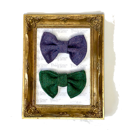 Tweed Pure Wool removable Bow Tie from Teddy Bear Boutique