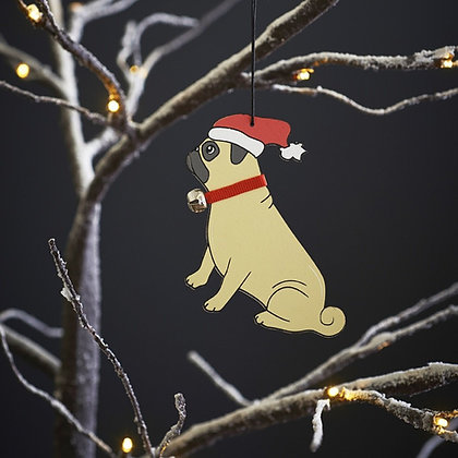 Pug Tree Decoration