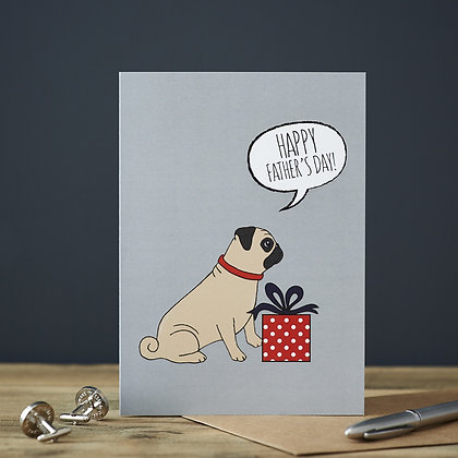 Pug Fathers Day Card - Sweet William