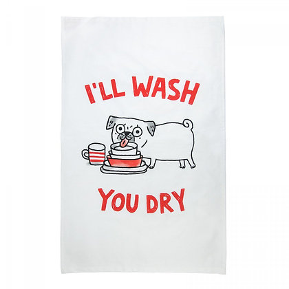 Pug Tea Towel