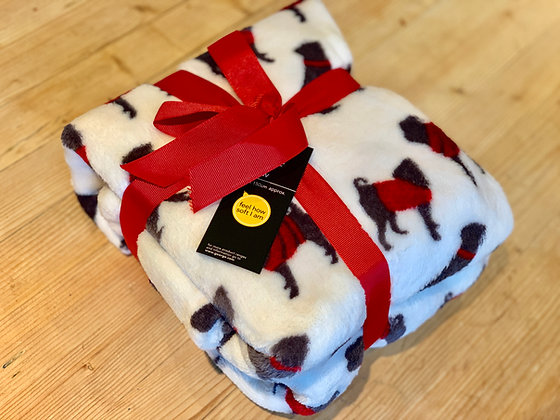 Pug Fleece Throw - George - 120 x 150cm