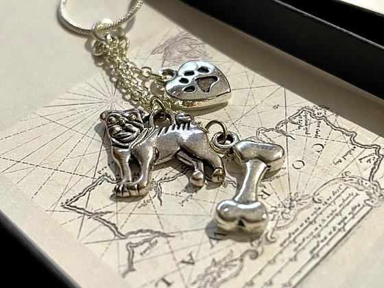 Love Pugs Charm Necklace by Zamsoe