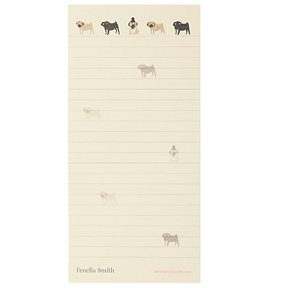 Pug Shopping List Notepad - Fenella Smith