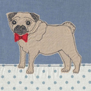 Pug Greeting Card from Poppy Treffry