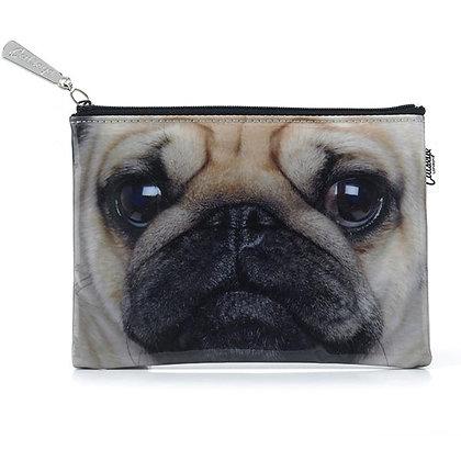 Pug Flat Bag by Catseye purse / pouch