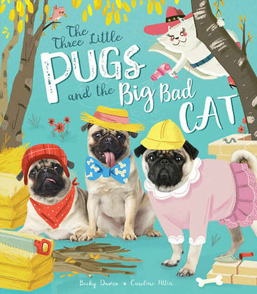 The 3 little Pugs and the Big Bad Cat Large Paperback Children's Book