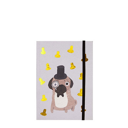 Fenella Smith New Gold Pug Notebook - Lined