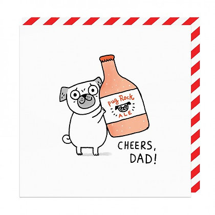 Fathers Day Pug Card
