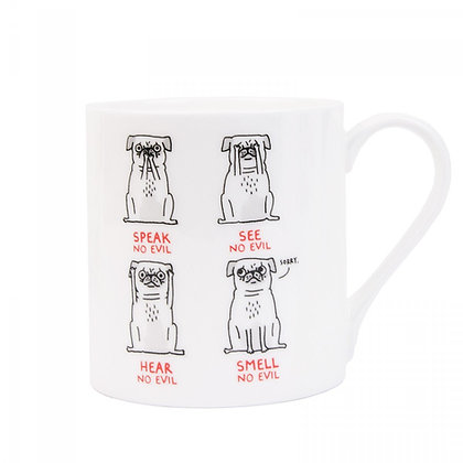 Speak No Evil Pug Mug