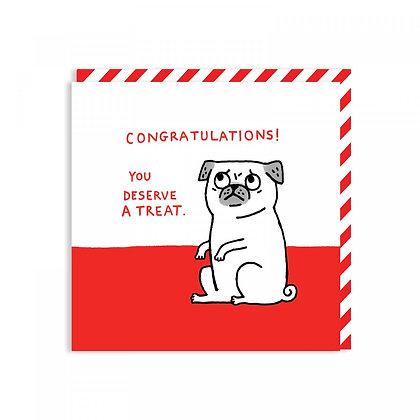 Congratulations Pug Card