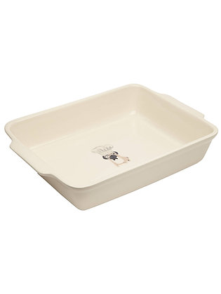 Fenella Smith Pug Baking Dish - Stoneware