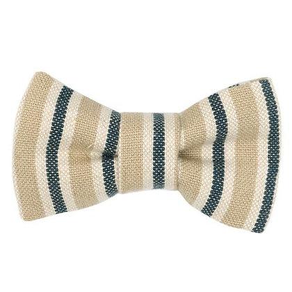 Tetbury Stripe Linen Dog Bow Tie - Mutts & Hounds