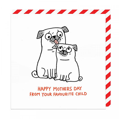 Mothers Day Pug Card