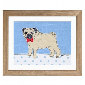 Embroidered Pug Picture