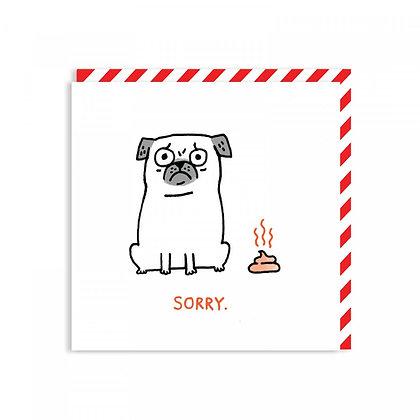 Sorry Pug Card