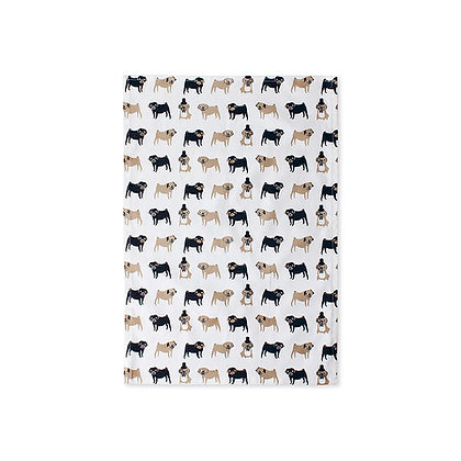 Fenella Smith Pug Tea Towel